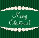 Pearl Christmas Card Stock Photos