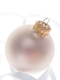 Pearl Christmas ornament Royalty Free Stock Photo