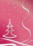 Pearl christmas-tree. Pink Royalty Free Stock Photos