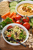 Pearl couscous salad with fresh vegetables Stock Photo
