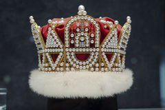 Pearl crown. Real pearl crown made by Mikimoto, Japan, from 796 pearls, 17 diamonds and 18K gold Royalty Free Stock Photos