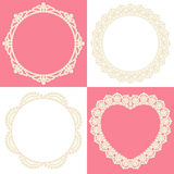 Pearl decoration. Set of decorative pearls. pearl doily Royalty Free Stock Photo