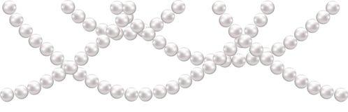 Pearl decoration stock illustration