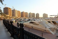 The Pearl development in Qatar Royalty Free Stock Image