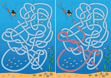 Pearl diving maze Stock Photo