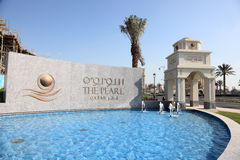 The Pearl in Doha, Qatar Royalty Free Stock Photos