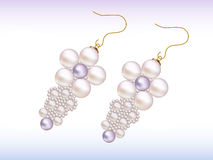 Pearl eardrops. Illustration of pearl eardrops. Also includes vector .eps format Stock Image