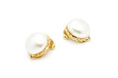 Pearl earings Royalty Free Stock Images