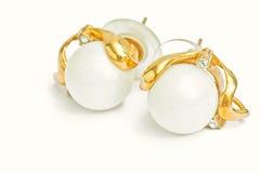 Pearl earring Stock Image