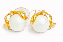 Pearl earring Royalty Free Stock Images