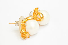 Pearl earring Stock Images