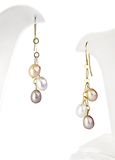 Pearl earrings Stock Image