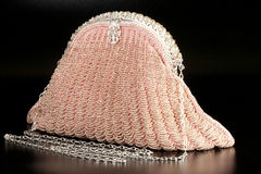 Pearl evening bag Stock Photo
