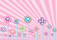 Pearl flowers. Illustration of abstract colorful pearly flowers stock illustration