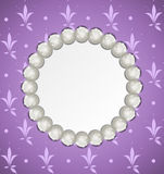 Pearl frame Royalty Free Stock Image