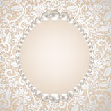 Pearl Frame Royalty Free Stock Photo