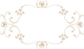 Pearl frame Stock Photos