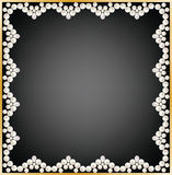 Pearl frame Royalty Free Stock Photography