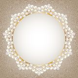 Pearl frame Stock Images