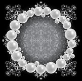 Pearl frame Stock Photo