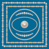 Pearl Frames Set Stock Images