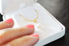 Pearl gift Stock Photography