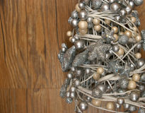 Pearl and glitter tree Christmas decoration Stock Images