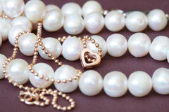 Pearl And Gold Royalty Free Stock Photo