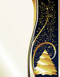 Pearl Gold Stars & Tree. Classy holiday background inspired by new years eve celebrations Stock Images