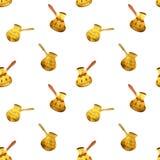 Pearl gold Turkish coffee pots Stock Image