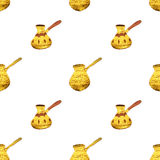 Pearl gold Turkish coffee pots Royalty Free Stock Photos