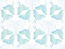 Pearl green butterfly pattern on white vector Royalty Free Stock Images