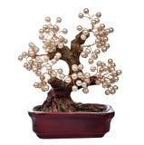 Pearl handmade bonsai tree Royalty Free Stock Photo