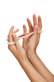 Pearl and hands Royalty Free Stock Photography