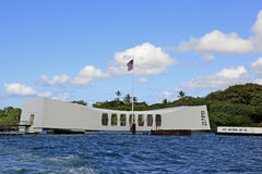 Pearl Harbor, Hawaii. USS Arizona Memorial which is open to the public Stock Photos
