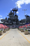 Pearl Harbor, Hawaii. The USS Missouri Battleship  is open for visits Royalty Free Stock Photo