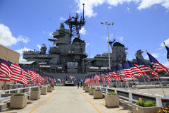 Pearl Harbor, Hawaii. The USS Missouri Battleship is open for visits Royalty Free Stock Image