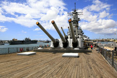 Pearl Harbor, Hawaii. The USS Missouri Battleship is open for visits Royalty Free Stock Photos