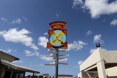 Pearl harbor Crossroads of the pacific sign Stock Image
