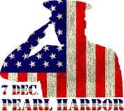 Pearl Harbor Día de la conmemoración ilustración del vector