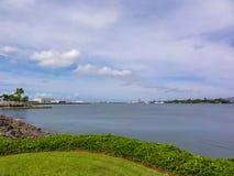 Pearl Harbor de desatención en Hawaii imagen de archivo