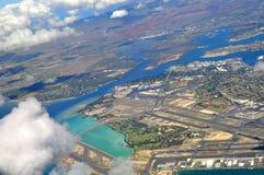 Pearl Harbor em Oahu, Havaí Imagem de Stock
