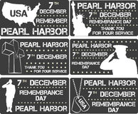Pearl Harbor Giorno di ricordo Fotografia Stock Libera da Diritti