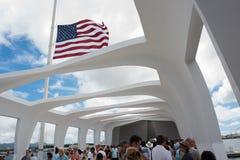 Pearl Harbor in Hawaii Stockfotos