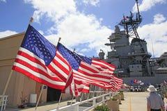 Pearl Harbor, Hawaii. Tourist visit the USS Missouri Battleship at Pearl Harbor, Hawaii Stock Images