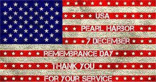 Pearl Harbor Jour de souvenir Photographie stock libre de droits