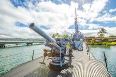 Pearl Harbor machine gun Royalty Free Stock Images