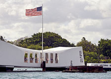 Pearl harbor memorial oahu hawaii Stock Photo