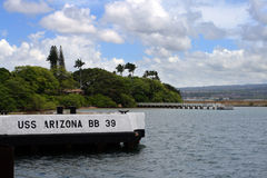 Pearl Harbor Memorial, O'ahu, Hawaii, USA Royalty Free Stock Photography
