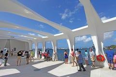Pearl Harbor Memorial. USS Battleship Missouri Memorial, Pearl Harbor Memorial royalty free stock images